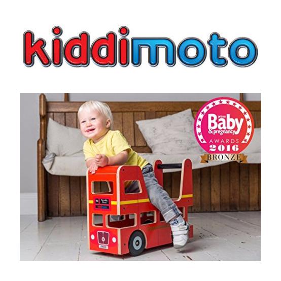 Kiddimoto 英伦双层巴士学步车/骑乘车