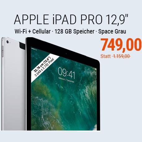 苹果平板电脑 iPad Pro 12.9寸屏 128GB wifi+Cellular版