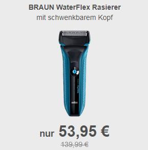 Braun WF2s WaterFlex干湿两用电动剃须刀