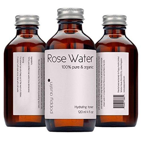 英国poppy austin纯玫瑰水 100%纯有机和手工加工摩洛哥玫瑰