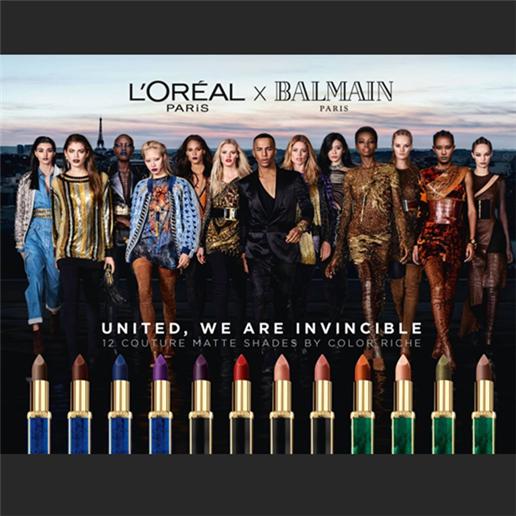既浮夸又霸气 L'Oreal Paris X BALMAIN 联名唇膏系列