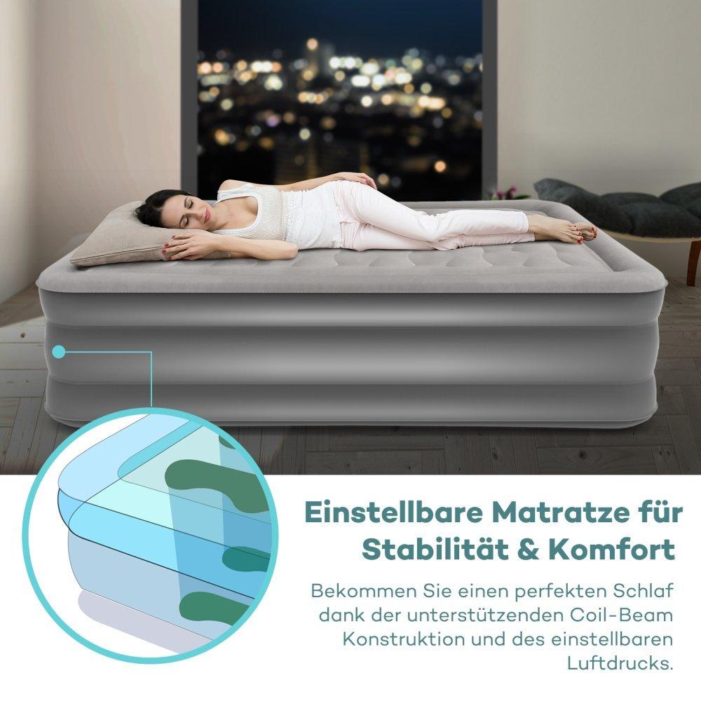 超高评价的Sable电动充气床垫