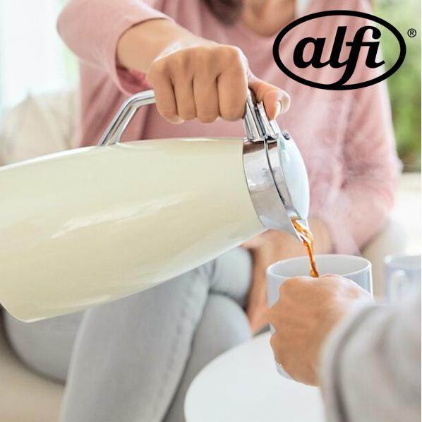 来自德国的品质保证 居家必备  Alfi双层真空不锈钢保温瓶1L容量