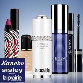 La prairie、Sisley、Kanebo顶级贵妇护肤彩妆专场