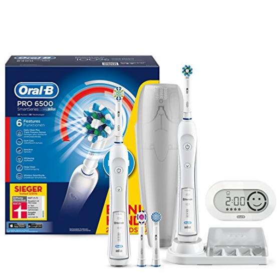 Braun Oral-B Pro 6500 电动牙刷 两支手柄装!