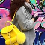 软萌可爱,Grafea柠檬黄兔子包