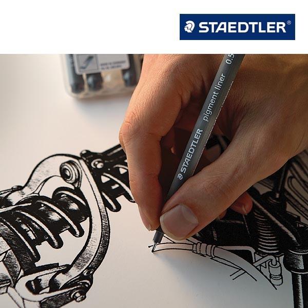 Staedtler 308 Pigment Liner 草图笔/勾线笔6支装