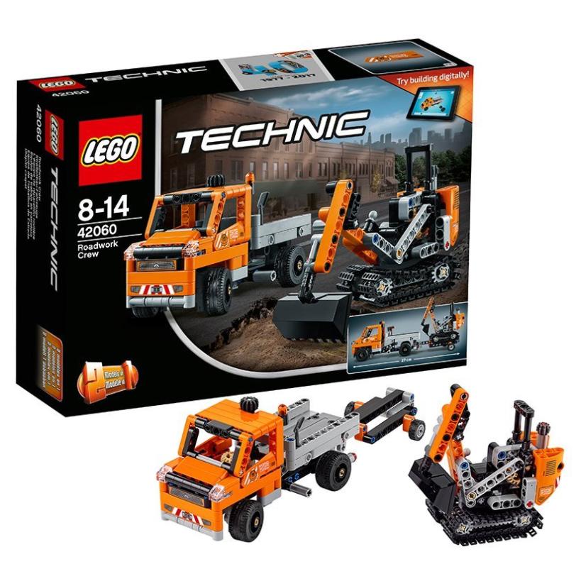 Lego乐高 42060 机械组系列 修路工程车组合