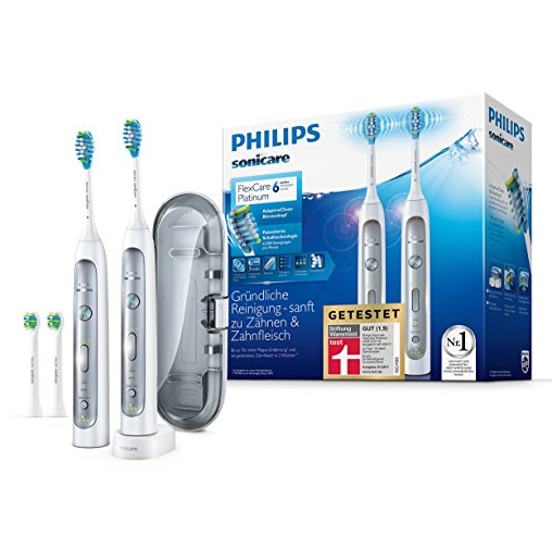 Philips Sonicare FlexCare Platinum HX9114/37 电动牙刷两支装