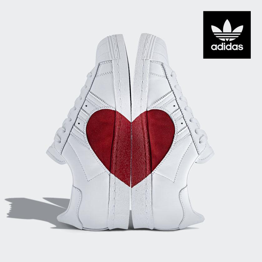 爱心砰砰砰 Adidas 情人节系列
