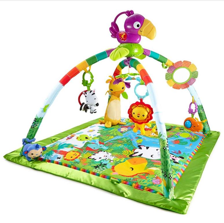 Mattel Fisher-Price DFP08 热带雨林冒险婴幼儿游戏爬行垫