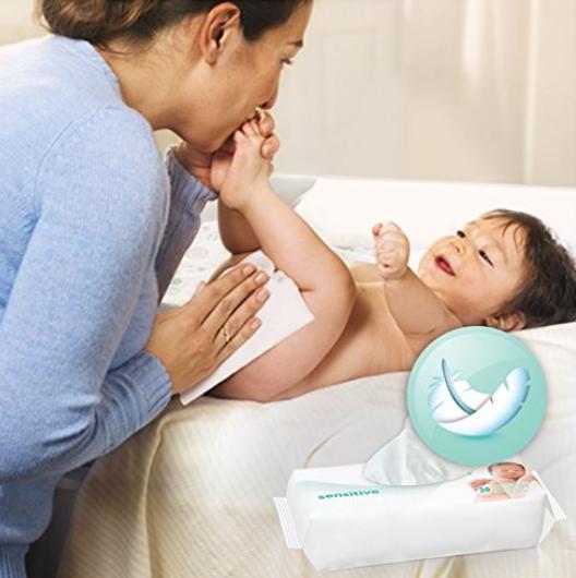 帮宝适(Pampers)敏感肌肤 婴儿湿巾 56片*18包
