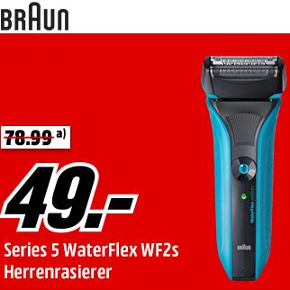 Braun WF2s WaterFlex 干湿两用电动剃须刀