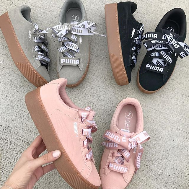 超值Puma Vikky Platform Ribbon女鞋