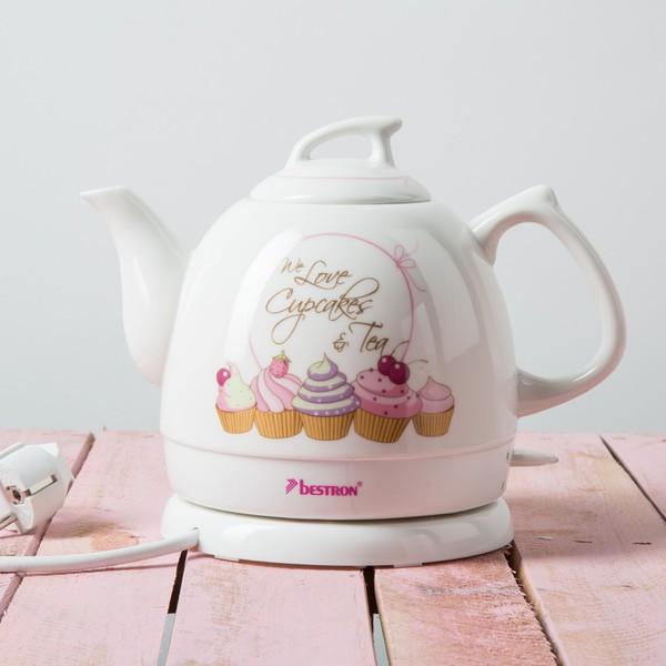 完美的英式下午茶 少女心满满的Bestron热水壶