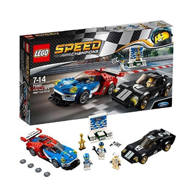 LEGO乐高赛车系列 75881 2016福特GT与1966福特GT4