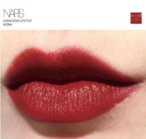 骨灰级红棕砖红色 NARS Audacious Lipstick 唇膏 色号:mona