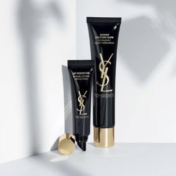 Yves Saint Laurent 黑丝缎亮颜亮肌乳妆前乳