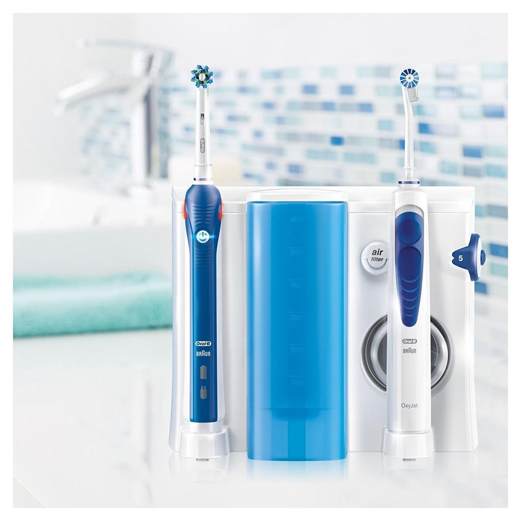 Oral-B 欧乐b口腔护理中心-OxyJet 活氧口腔冲洗器+Pro 3000 电动牙刷+4个冲洗刷头+6个替换牙刷头