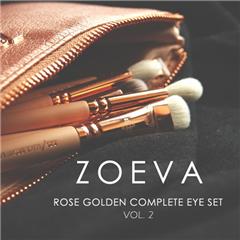 高颜值 ZOEVA Rose Golden Complete Eye Set 玫瑰金全套眼影刷 第二代