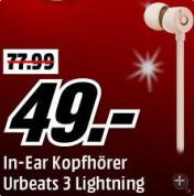 BEATS urBeats 3 入耳式耳机 (金色)
