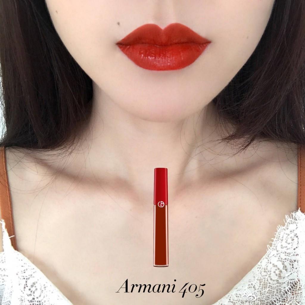 最美番茄色!网红鼻祖 Armani 丝绒红管唇釉405号 Sultan