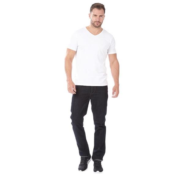 Emporio Armani 男士V领白色T恤 三件装