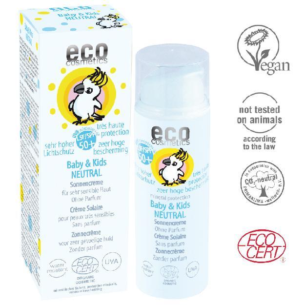 """夏天过去不要变成""""小黑娃"""" Eco Cosmetics儿童物理防晒霜 SPF50+ 防UVA"""