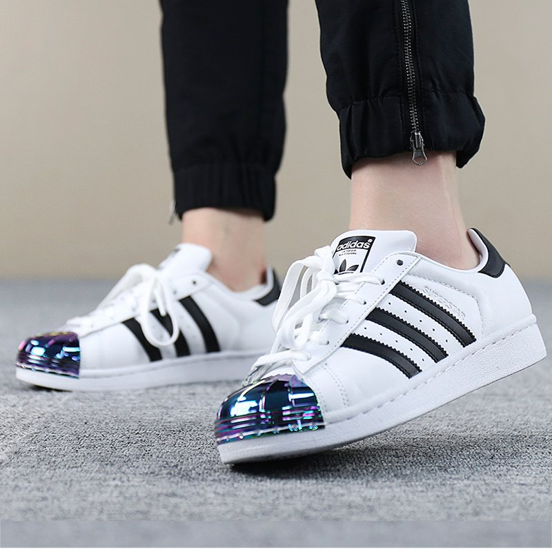 Adidas SUPERSTAR METAL TOE 三叶草超酷炫金属贝壳头女式运动鞋