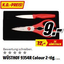 德国制造Wüsthof三叉  Küchenset 剪刀+水果刀套装