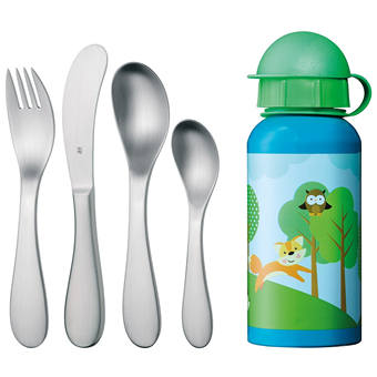 WMF Knuddel Kinderbesteck 儿童餐具及水杯5件套