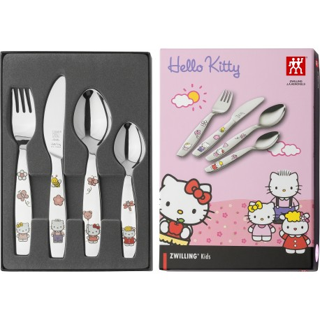 生活因萌而美好 双立人Hello Kitty儿童餐具四件套