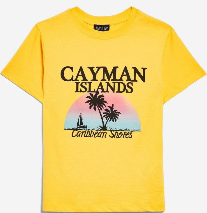 让你白到透亮的Topshop黄色T恤