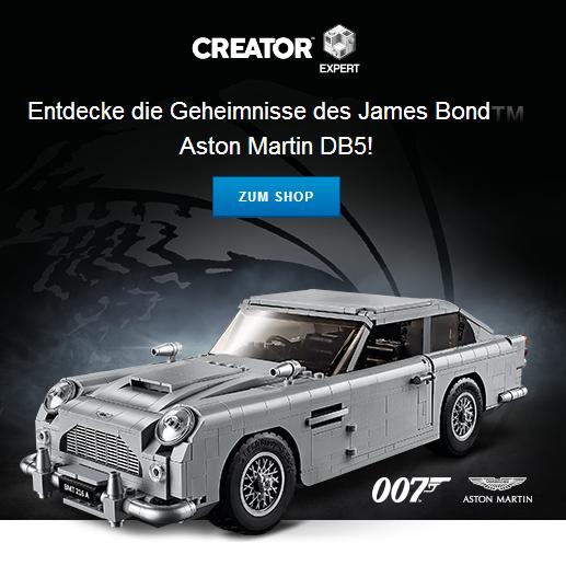 乐高创意百变高手系列全新推出 James Bond Aston Martin DB5跑车