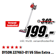 DYSON V6 Slim Extra 无绳手持吸尘器