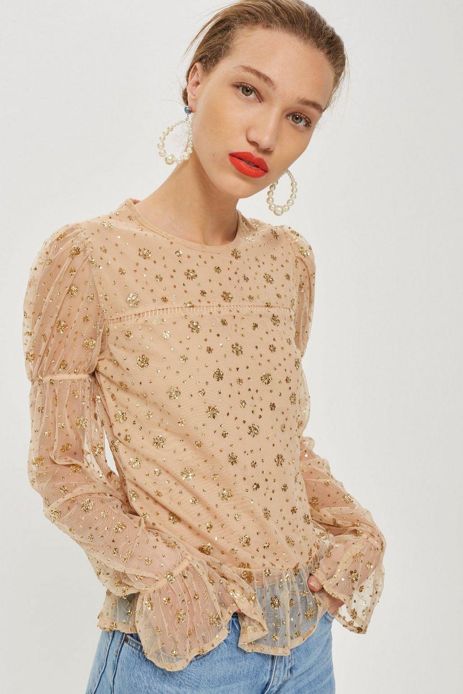 TopShop 镂空性感长袖衬衫