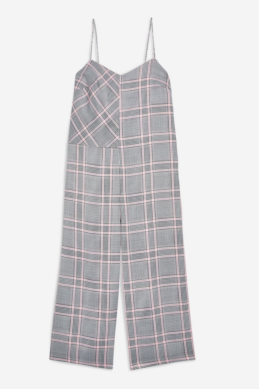 正统不古板 Topshop威尔士亲王格背带裤