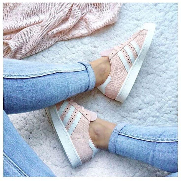 adidas superstar 粉色款