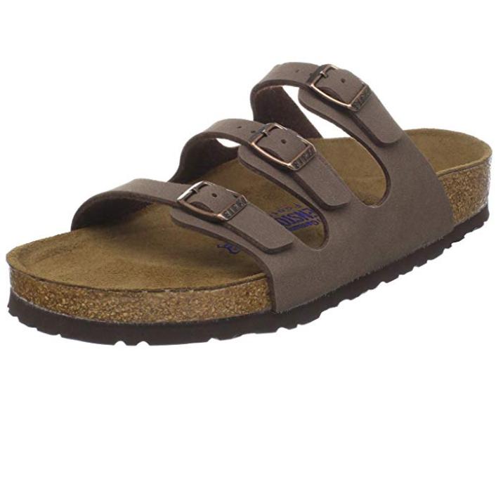Birkenstock Florida Leder Sandale 超舒服的拖鞋
