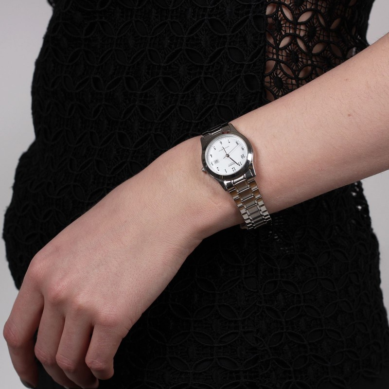 casio 女式钢带石英腕表