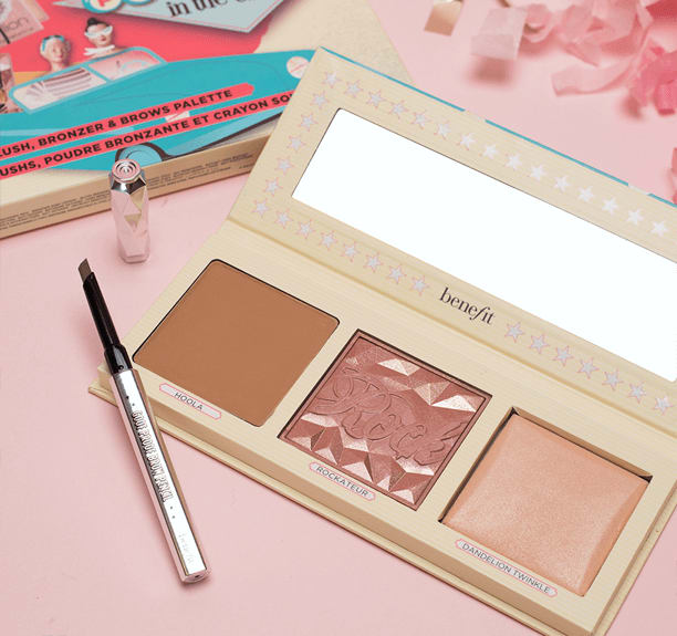 Benefit Pretty in the U.S.A. 腮红修容高光眉笔盘