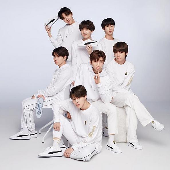 经典、帅气又精致!BTS x PUMA Basket 联名鞋款
