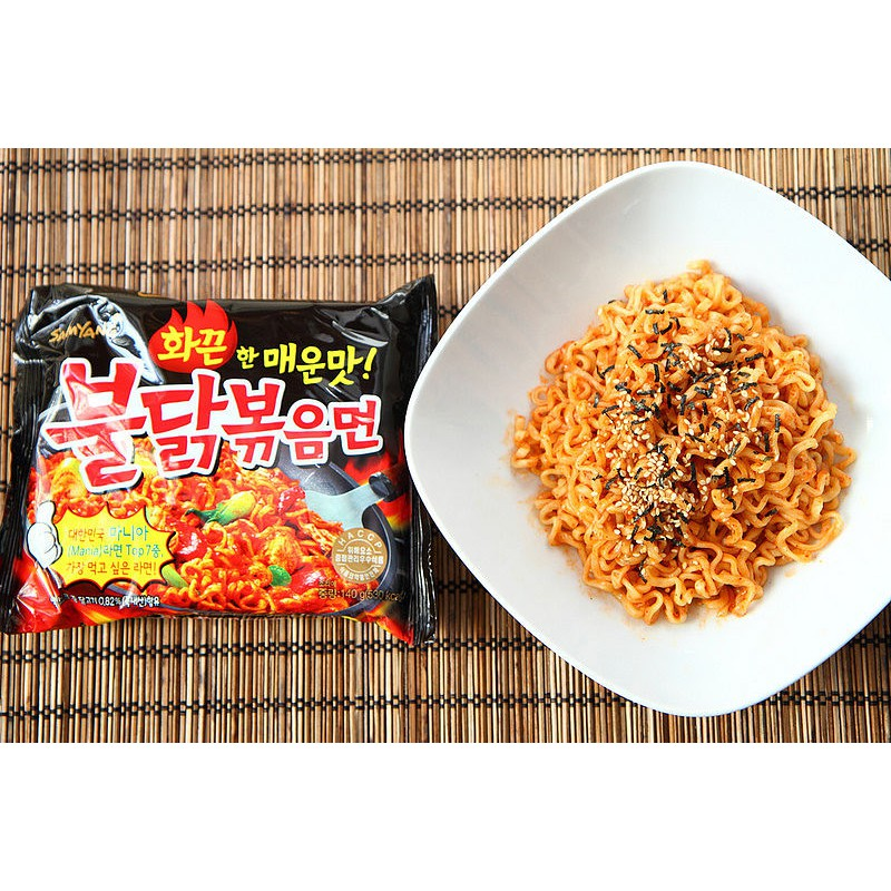 喜欢吃辣的朋友不要错过啦~ 5 包装 韩国原产 Samyang 最强最辣 韩国第一辣火鸡炒面 5*140g