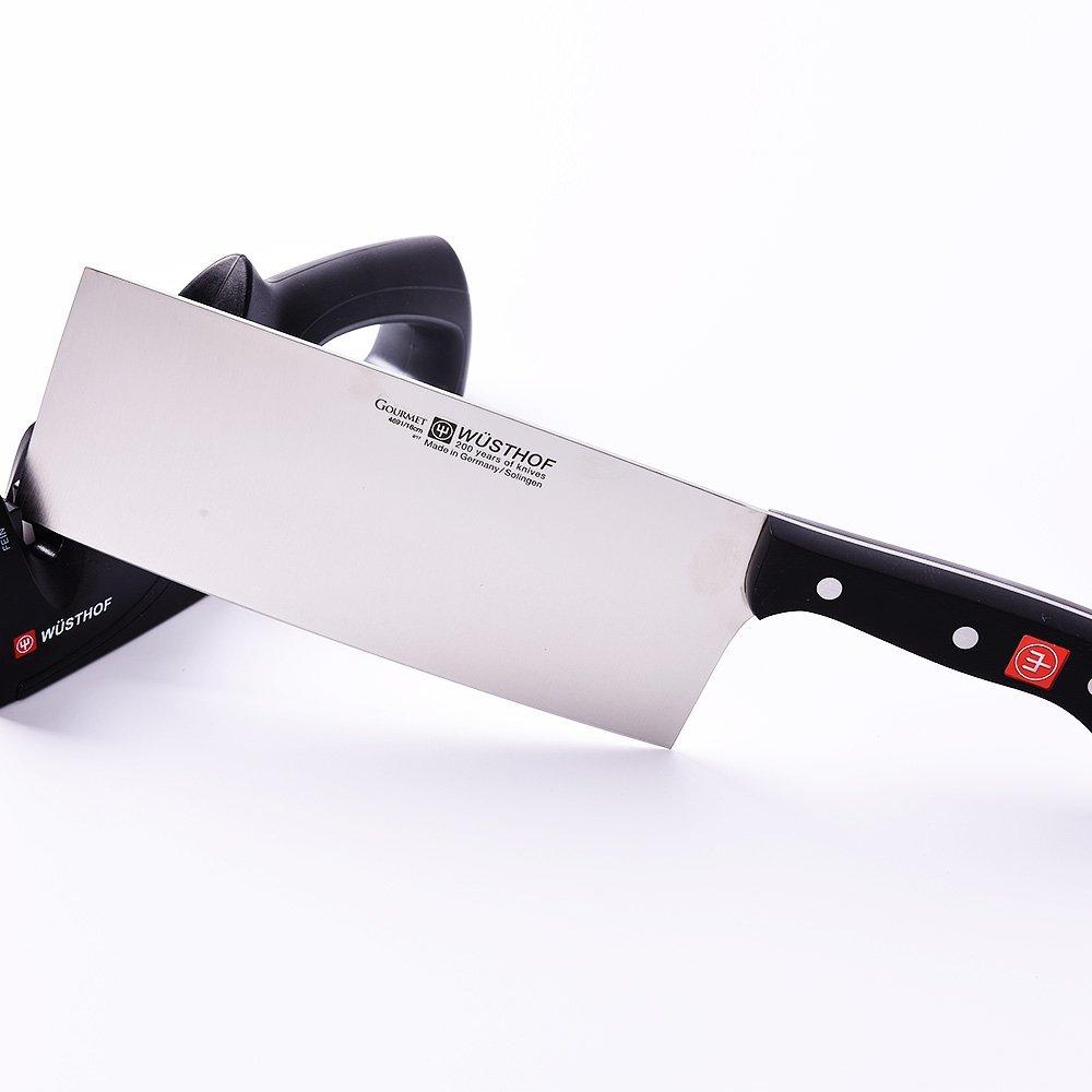 最适合中国人的刀!!德国三叉Wüsthof中式菜刀+磨刀器