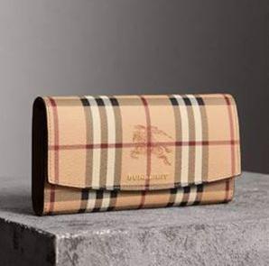 【直邮中国】Burberry巴宝莉英伦奢侈经典皮革Vintage钱包