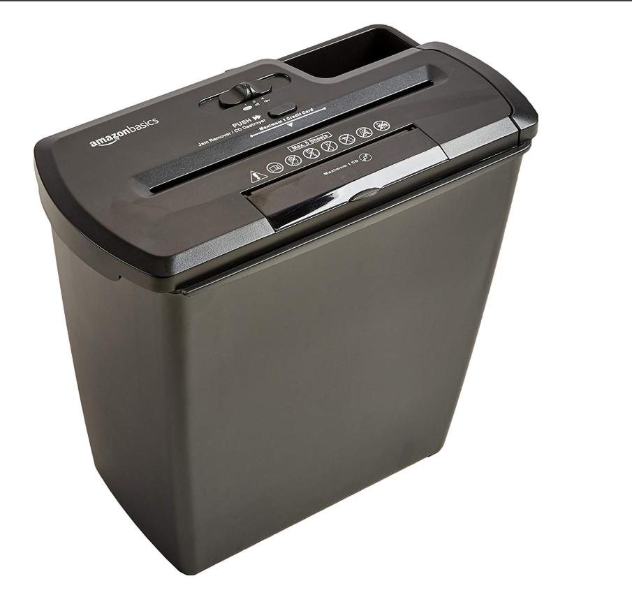 办公设备 AmazonBasics 8张碎纸机和信用卡、CD切碎机