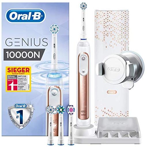 旗舰级别的口腔关爱  Oral-B Genius 10000N电动牙刷套装 金色款