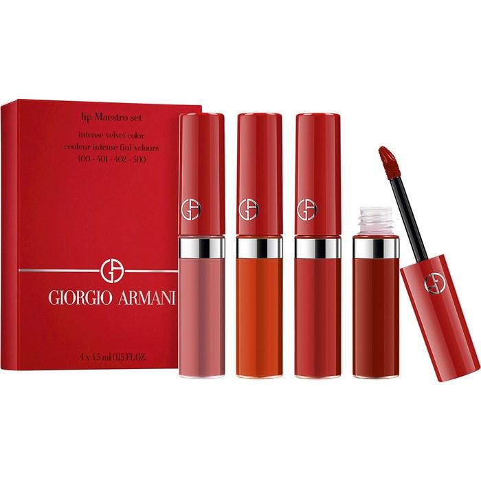 ARMANI  阿玛尼红管唇釉 4 X 4.5ml 节日套装