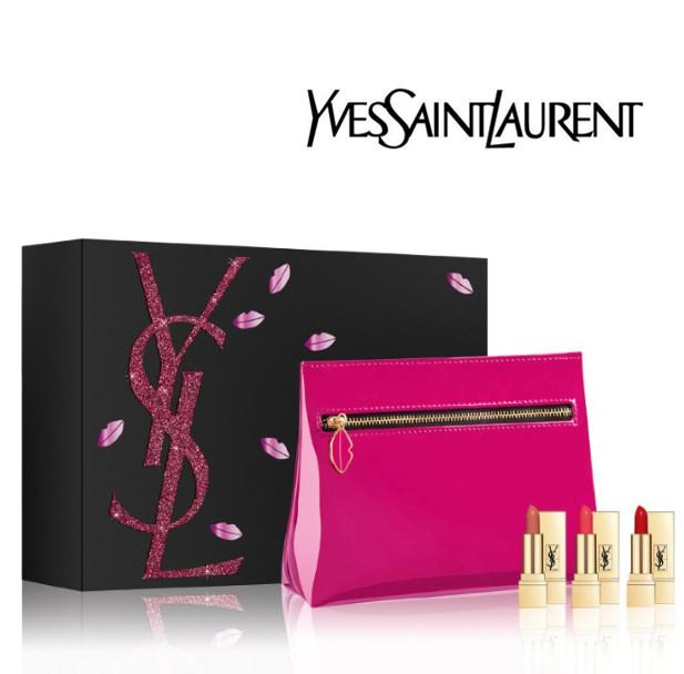 Yves Saint Laurent 圣诞限量奢华缎面mini唇膏套装