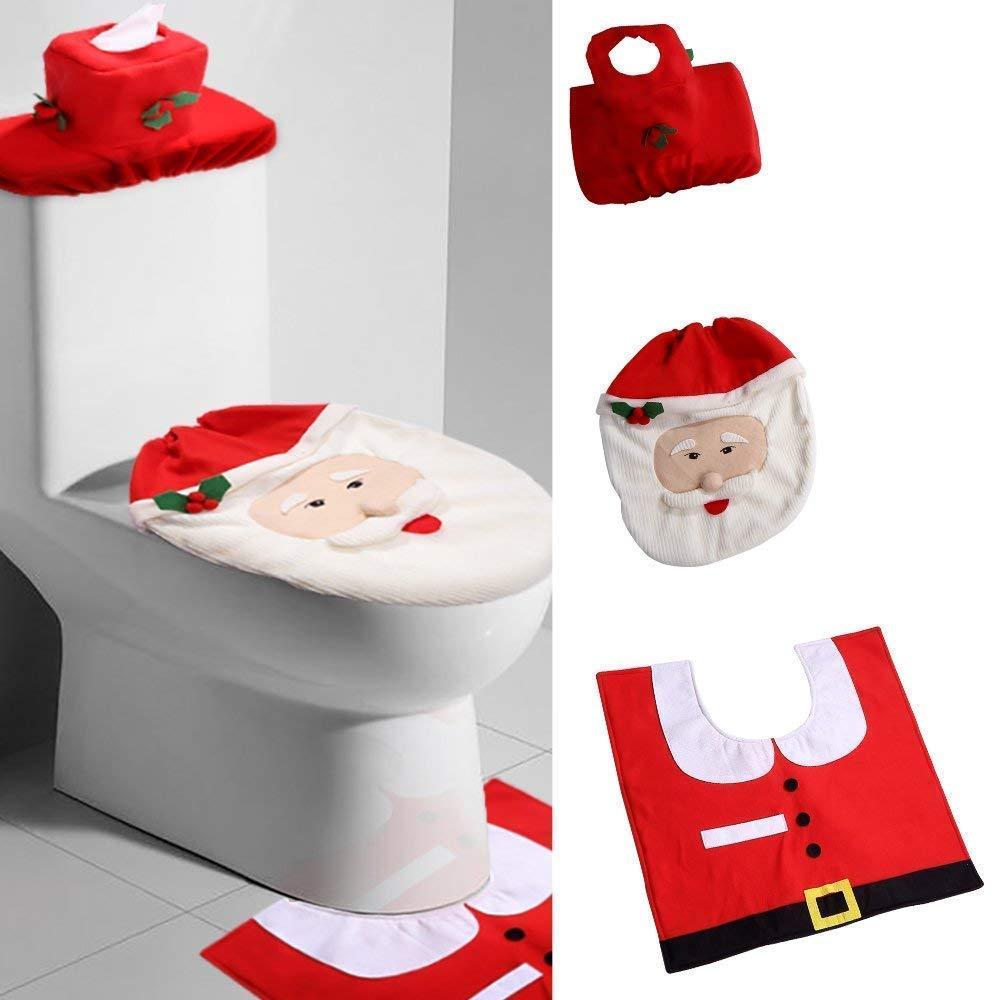 Uten 圣诞节主题马桶装饰套装